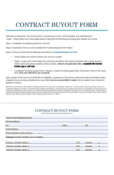 contract buyout form