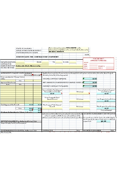 contract payment form
