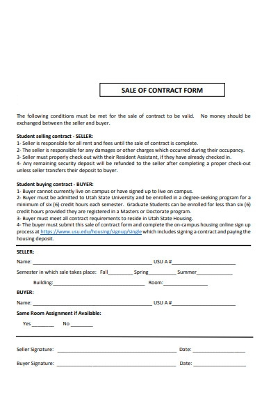 contract sale form