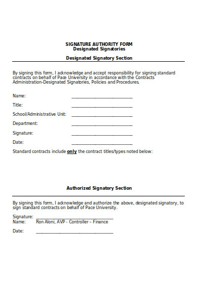 contract signature authority form