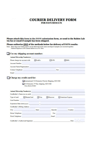 courier delivery form1