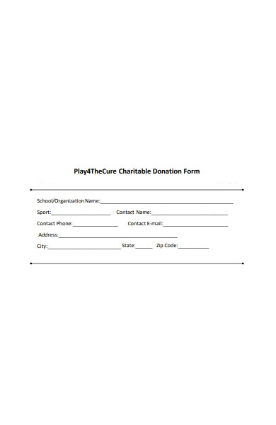 cure charitable donation form