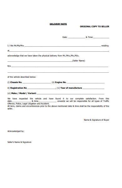 delivery seller form