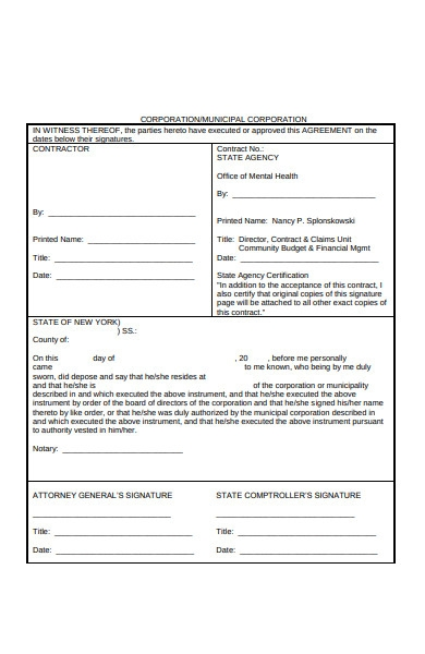 direct contract form