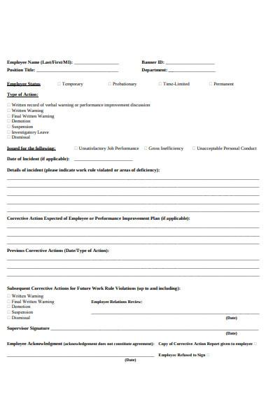 disciplinary acknowledgement form