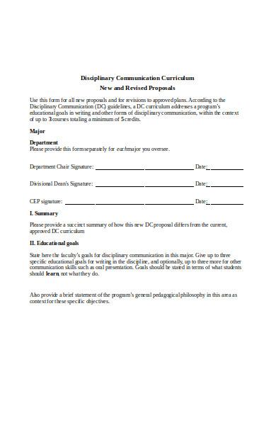 disciplinary communication form