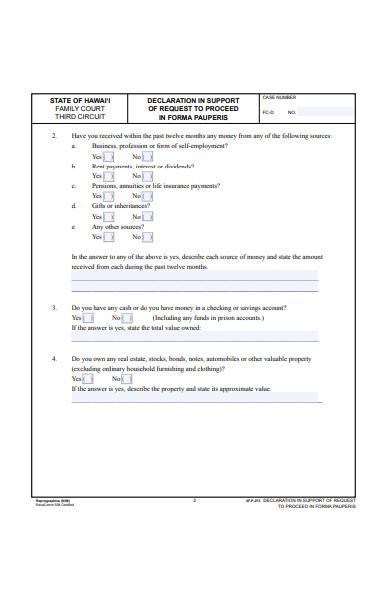 divorce form in pdf