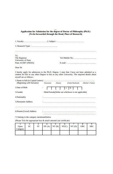 doctor admission form