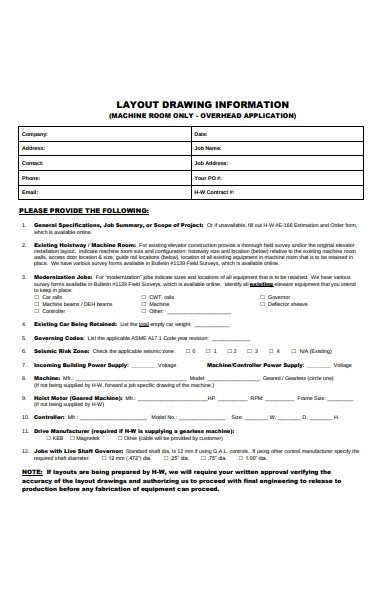 drawing information survey form