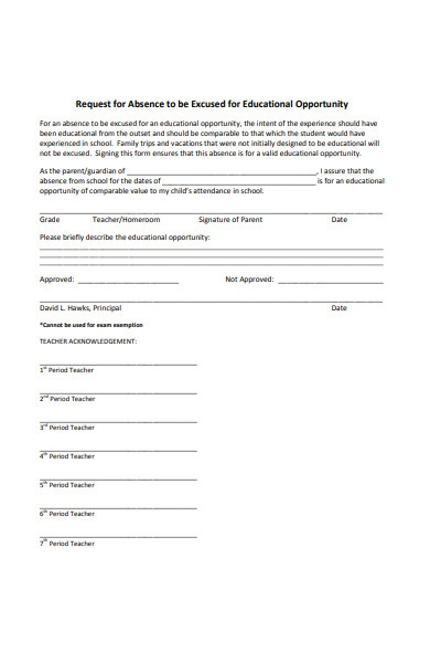 educational opportunity form