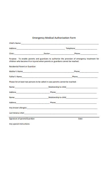 emergency medical authorization form1