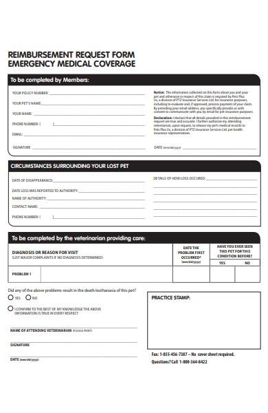 emergency medical reimbursement request form
