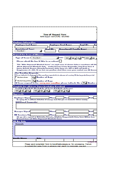 employee time off request form1