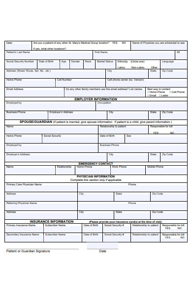 employer patient form
