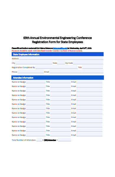 environmental engineering conference registration form