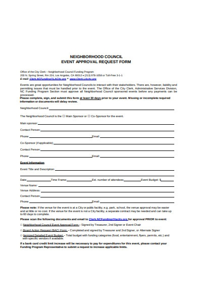 event approval request form in pdf