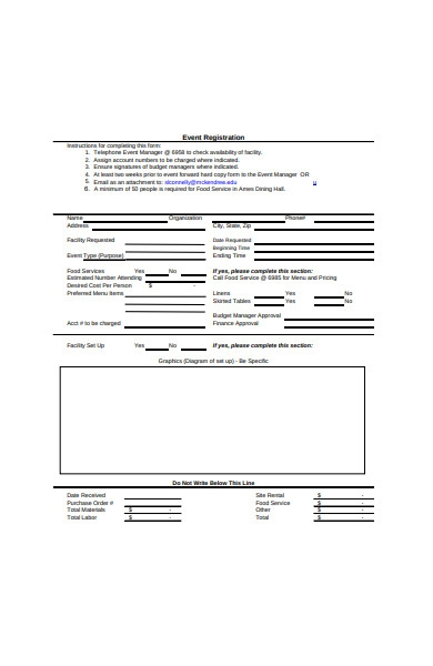 event registration sample