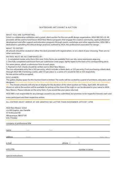 exhibit entry form