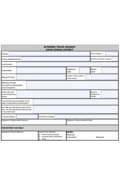 extended travel request form
