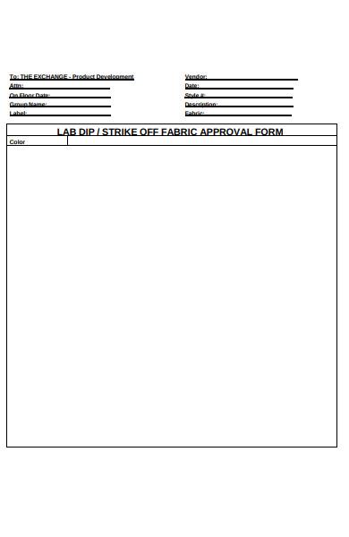 fabric apparel order form