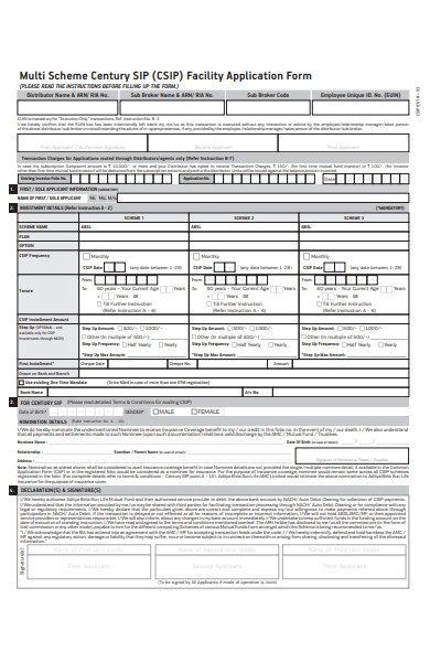 facility scheme form