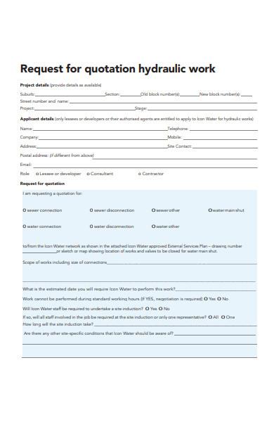final quotation form