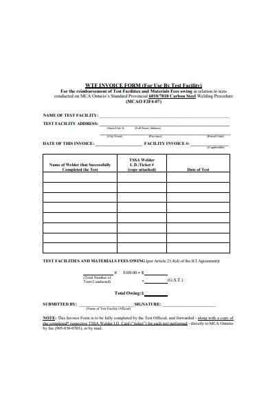 formal invoice form in pdf