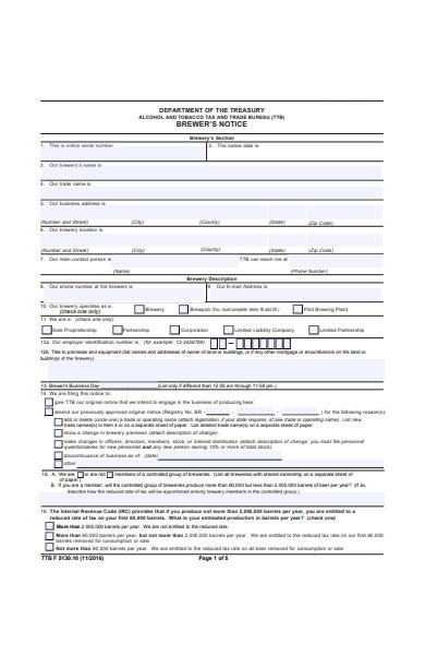 formal notice form in pdf