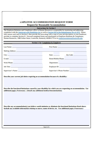 general accommodation request form