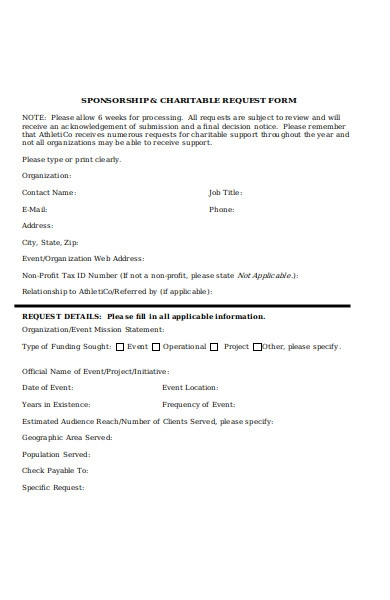 general charitable form