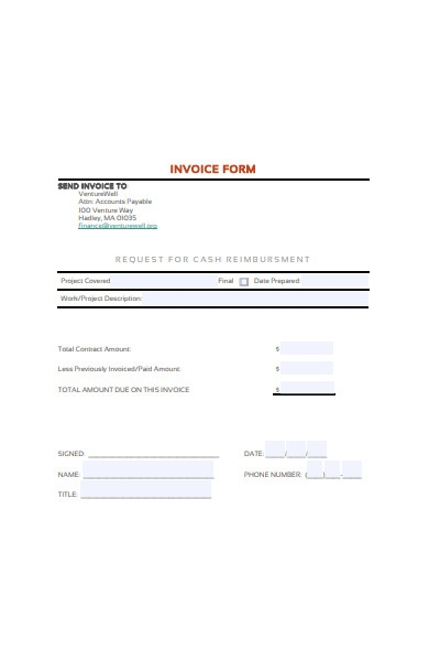 general invoice form template