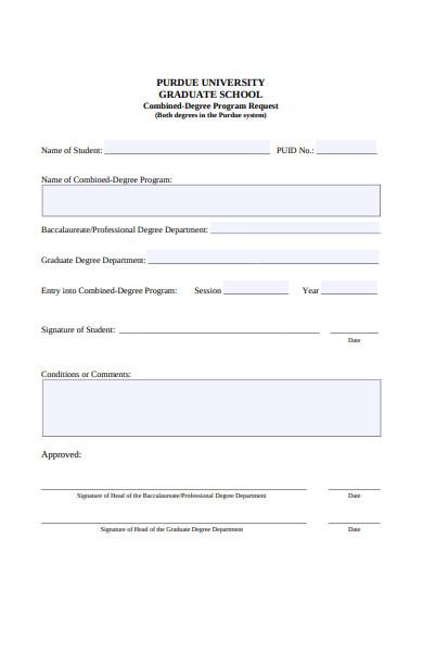 graduate school form
