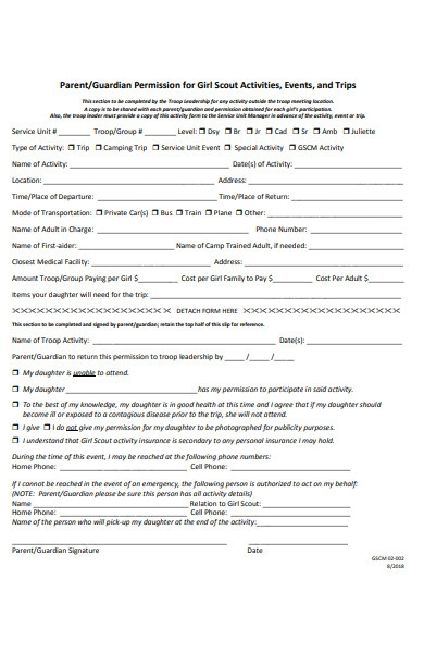 guardian permission form