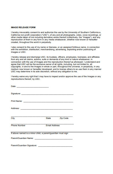 image photo release form