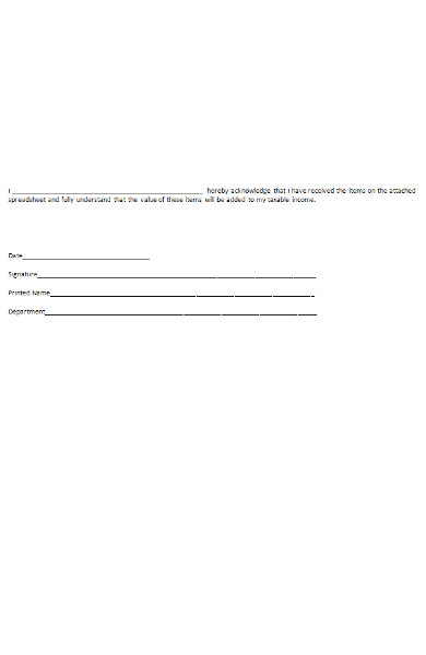 income acknowledgement form1