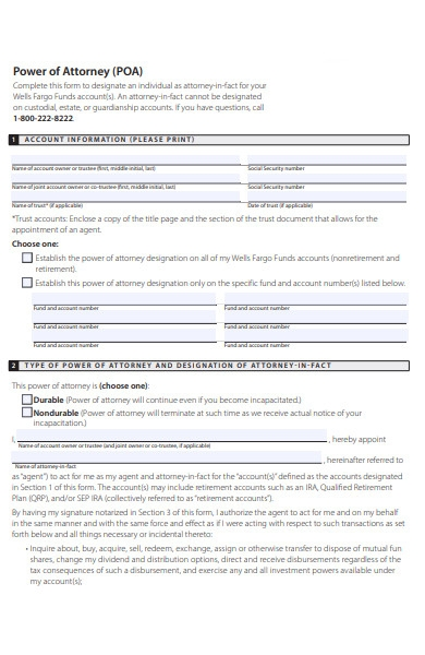 individual power of attorney form