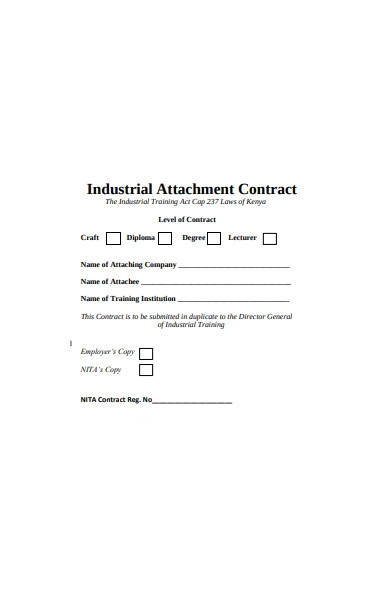 industrial contract form