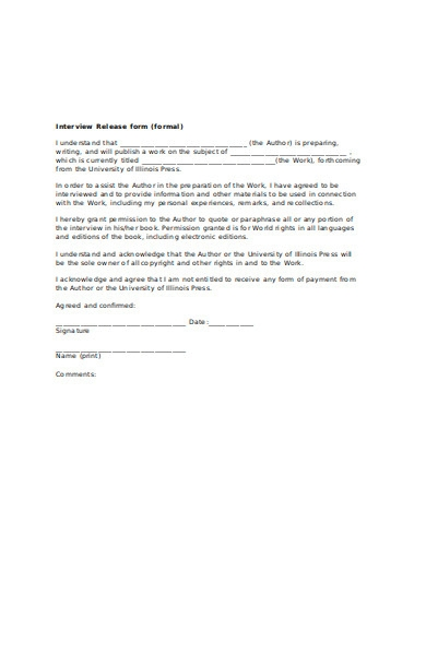 interview release form1