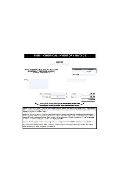 inventory invoice form