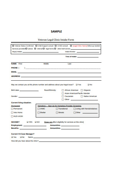 legal clinic intake form