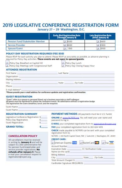 legislative conference registration form