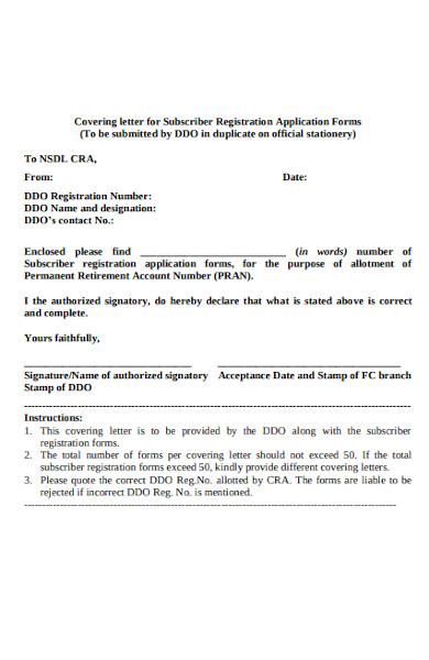 letter subscriber registration form