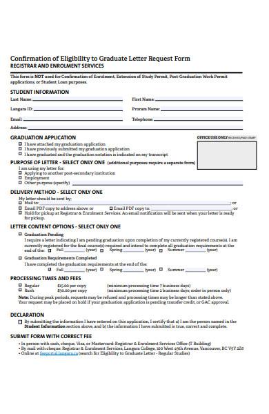 letter of enrolment service form