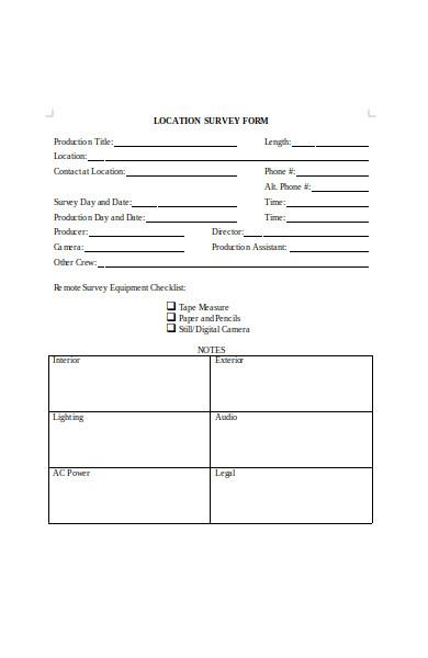 location survey form