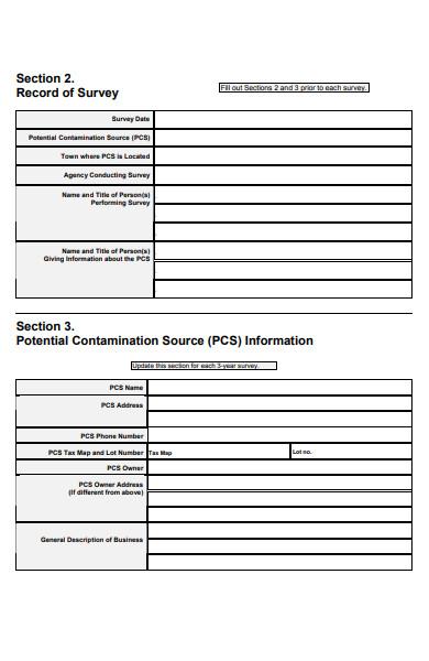 management practice survey form