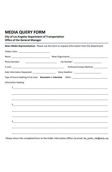 media query form