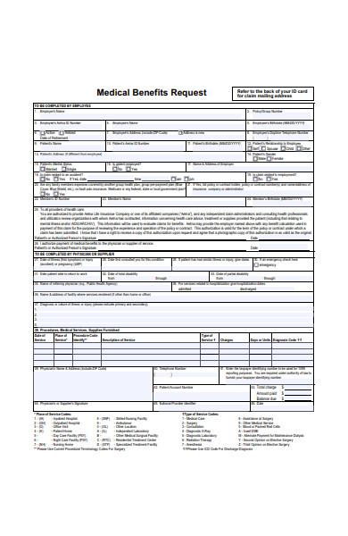 medical benefits request form
