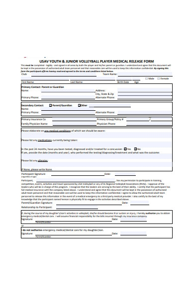 medical release form in pdf0a