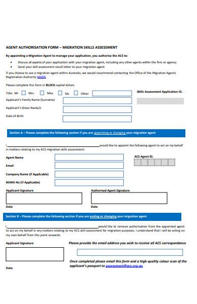 migration assessment form