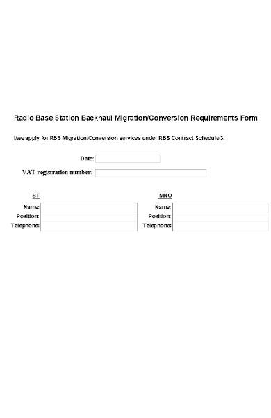 migration conversion form